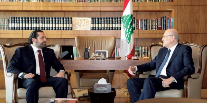 الحريري يؤيد تكليف ميقاتي للحكومة