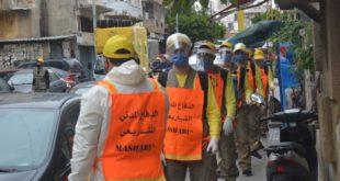 الدفاع المدني المشاريعي يعقم الشوارع
