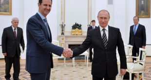 الرئيسان بشار الاسد وفلاديمير بوتين