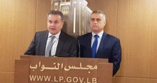 النائبان ادكار طرابلسي واسعد درغام