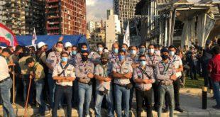 وقفة تضامنية في مرفأ بيروت للمشاريع والكشاف العربي