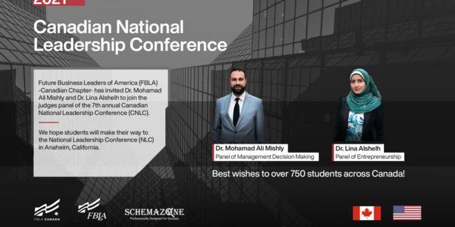 الدكتور محمد مشلي ولينا الشلح في لجنة التحكيم الكندية