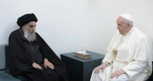 لقاء البابا والسيستاني يعزز الحوار الاسلامي المسيحي