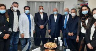 مهنا ورؤساء البلديات الثلاثة في مركز عين الرمانة
