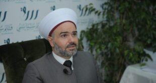 الشيخ رامي الفري خلال توقيعه كتابيه في طرابلس